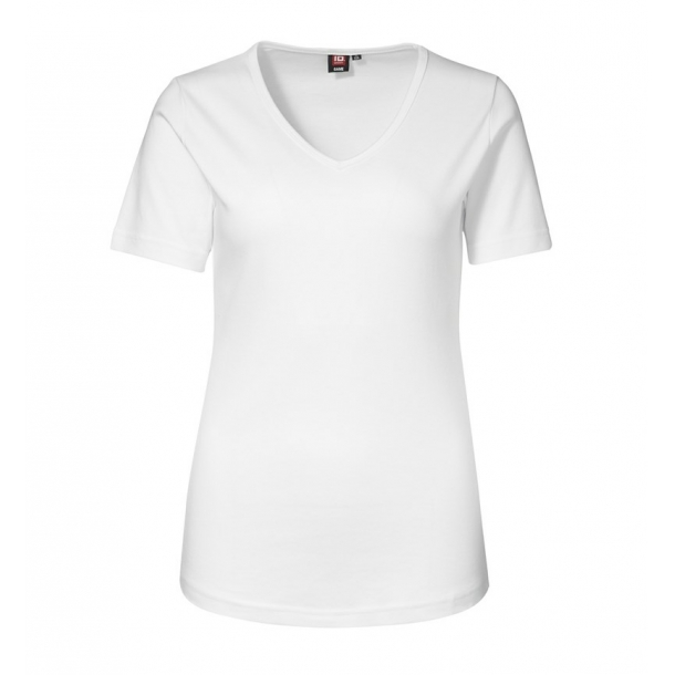 ID 0506 Interlock T shirt V hals Dame